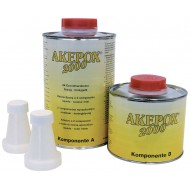 COLLE EPOXY AKEPOX 2000 TRANSPARENT MIEL LIQUIDE