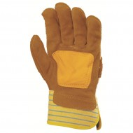 GANTS MANUTENTION DOCKER CROUTE/CUIR - PAUME RENFORCE